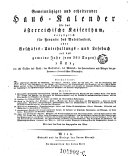 Gemeinnütziger und erheiternder Haus-Calender für das österr. Kaiserthum (etc.) (Red.)von Joseph Ritter von Seyfried
