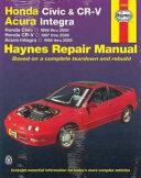 Honda Civic And Cr V Acura Integra Automotive Repair Manual