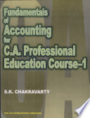 Fundamentals Of Accountancy For C A Professional Education Course 1