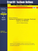Outlines and Highlights for Language  Proof and Logic by Jon Barwise  Isbn