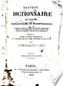 Nouveau dictionnaire de poche fran  ais italien et italien fran  ais     contenant  outre l accent prosodique  un vocabulaire de noms d hommes et de pays