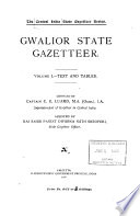 The Central India State Gazetteer Series