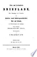 Est- und Livländische Brieflade