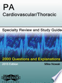 Pa Cardiovascular Thoracic Specialty Review And Study Guide