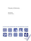 Philosophy of Mathematics  Oxford Bibliographies Online Research Guide