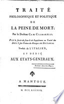 Traité philosophique et politique de la peine de mort ...