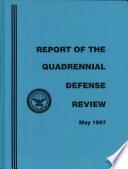 Report Of The Quadrennial Defense Review book