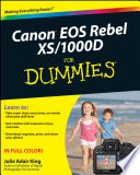 Canon Eos Rebel Xs 1000d For Dummies