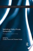 Rethinking Public Private Partnerships