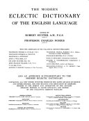 The Modern Eclectic Dictionary of the English Language