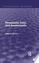 Personality Tests And Assessments Psychology Revivals
