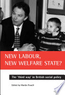 New Labour New Welfare State  book