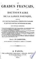 Le gradus français, ou Dictionnaire de la langue poetique