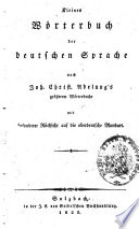 Kleines Wörterbuch der deutschen Sprache nach Joh. Christ. Adelung's größerem Wörterbuche0
