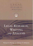 Legal Research  Writing  and Analysis