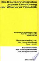 Die Deutschnationalen und die Zerstörung der Weimarer Republik