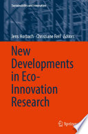 New Developments In Eco Innovation Research