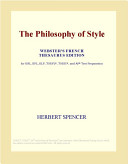 The Philosophy of Style  Webster s French Thesaurus Edition