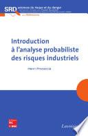 Introduction    l analyse probabiliste des risques industriels