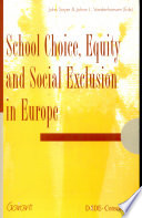 School Choice  Equity  and Social Exclusion in Europe
