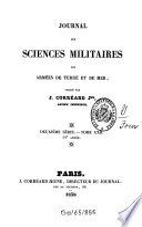 Journal des sciences militaires des armées de terre et de la mer