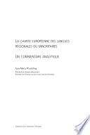 La Charte europ  enne des langues r  gionales ou minoritaires