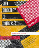 Gale directory of databases   1     Gale directory of databases  1  Online databases  1997 1 3