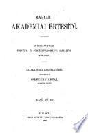 Magyar Akadémiai értesítö