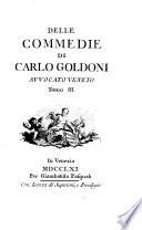 Delle commedie di Carlo Goldoni avvocato veneto
