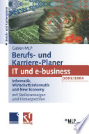 Gabler Mlp Berufs Und Karriere Planer 2003 2004 It Und E Business