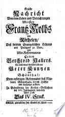 Bernerisches Mausoleum ... berühmten und sonderlich um die Kirchen Gottes ... hochverdienten Männernn ... aufgerichtetes Ehren-Maal (etc.)