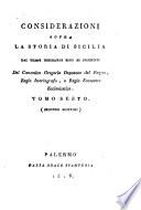 Considerazioni sopra la storia di Sicilia dai tempi normanni sino ai presenti