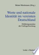Werte und nationale Identität im vereinten Deutschland