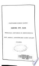 Feestnummer bij het gouden priesterfeest van Zijne Heiligheid Paus Leo XIII.