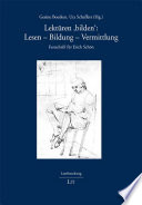 Lekt  ren  bilden   Lesen   Bildung   Vermittlung   Festschrift f  r Erich Sch  n