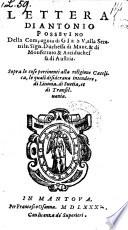 Lettera     alla     Duchessa di Mantova     sopra le cose pertinenti alla religione catolica     di Livonia  di Suetia et di Transilvania