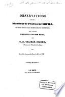 Observations adressées à Mr. le prof. Orfila au sujet des travaux chémico-légaux des experts dans l'affaire d'Antonia van der Burg