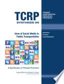 Uses of Social Media in Public Transportation