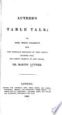 Luther s Table Talk