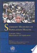 Summary Measures Of Population Health