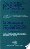 illustration du livre Commission Du Droit International Cinquante Ans Après