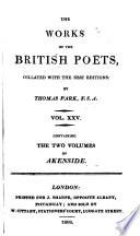 The Poetical Works of Mark Akenside ...