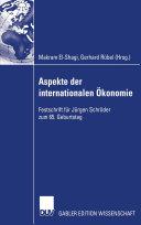 Aspekte der internationalen Ökonomie/Aspects of International Economics