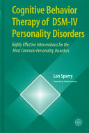 Cognitive Behavior Therapy Of Dsm Iv Personality Disorders