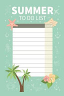 Summer to Do List for Girls and Boys Do List Reminder Book Make A