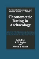 Chronometric Dating in Archaeology Book