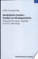 Musikalische Quellen, Quellen zur Musikgeschichte