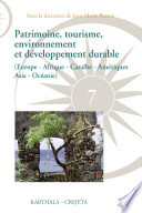 Patrimoine, tourisme, environnement et développement durable