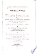 Complete Works of William Shakspeare  A winter s tale  Comedy of errors  Macbeth  King John  King Richard the Second  King Henry the fourth  part first