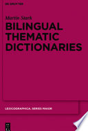 Bilingual Thematic Dictionaries
